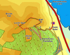 Map for Ascent of Barf and Lord's Seat